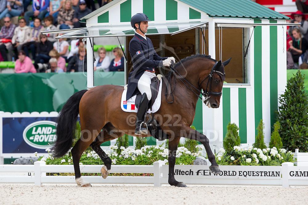 Arnaud Serre, (FRA), Robinson De Lafont De Massa - Grand Prix Special Dressage - Alltech FEI World Equestrian Games&trade; 2014 - Normandy, France.<br /> &copy; Hippo Foto Team - Leanjo de Koster<br /> 25/06/14