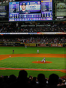 Apr 2, 2013; Houston, TX, USA; Texas Rangers starting pitcher Yu Darvish (11) pitches his final pitch against the Houston Astros in the ninth inning at Minute Maid Park. The Rangers won 7-0. Mandatory Credit: Thomas Campbell-USA TODAY Sports