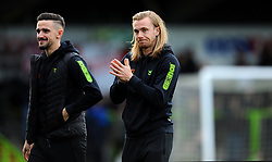 Liam Shephard and Joseph Mills of Forest Green Rovers- Mandatory by-line: Nizaam Jones/JMP - 08/02/2020 - FOOTBALL - New Lawn Stadium - Nailsworth, England - Forest Green Rovers v Walsall - Sky Bet League Two