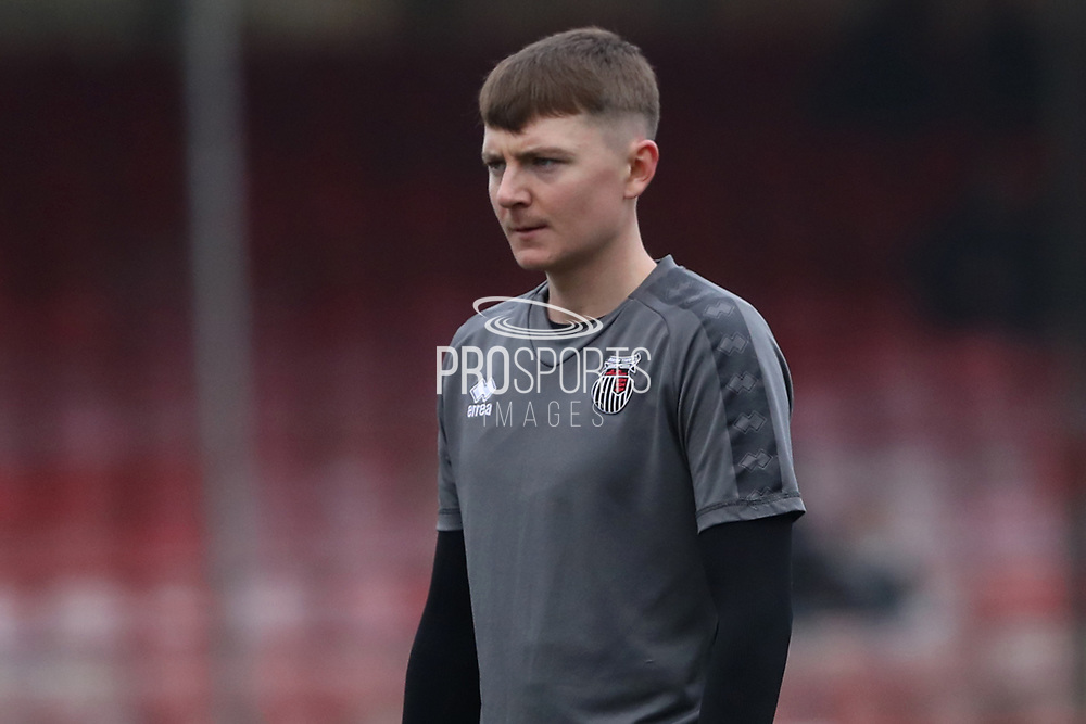 James Tilley of Grimsby Town during the EFL Sky Bet League 2 match between Crawley Town and Grimsby Town FC at The People's Pension Stadium, Crawley, England on 25 January 2020.