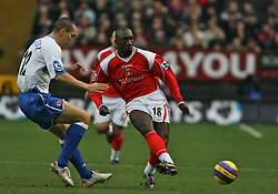 London, England - Saturday, January 13, 2007: Charlton Athletic's Jimmy-Floyd Hasselbaink against Middlesbrough's Emmanuel Pogatetz during the Premiership match at the Valley. (Pic by Chris Ratcliffe/Propaganda)