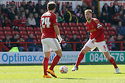 Nottingham Forest defender Matt Mills (capt)  during the Sky Bet Championship match between Nottingham Forest and Brentford at the City Ground, Nottingham, England on 2 April 2016. Photo by Chris Wynne.