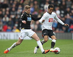 Josh Vela of Bolton Wanderers (L) and Thomas Ince of Derby County in action - Mandatory by-line: Jack Phillips/JMP - 09/04/2016 - FOOTBALL - iPro Stadium - Derby, England - Derby County v Bolton Wanderers - Sky Bet Championship