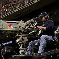 January 7, 2012; New Orleans, LA, USA; A NBC television camera during the 2011 NFC wild card playoff game between the New Orleans Saints and Detroit Lions at the Mercedes-Benz Superdome. Mandatory Credit: Derick E. Hingle-US PRESSWIRE