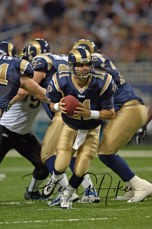 St. Louis Rams quarterback Jamie Martin (11) during game action against Jacksonville at the Edward Jones Dome in St. Louis, Missouri, October 30, 2005.  The Rams beat the Jaguars 24-21.