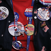 Democratic National Convention.Boston, MA.07/27/2004.Pin Collector..Photo by Khue Bui.