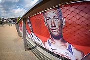 Greg Rutherford of Great Britain on signage during the Muller Anniversary Games, Day One, at the London Stadium, London, England on 21 July 2018. Picture by Martin Cole.