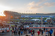 General view outside BT Murrayfield Stadium, Edinburgh, Scotland before the Autumn Test match between Scotland and South Africa on 17 November 2018.