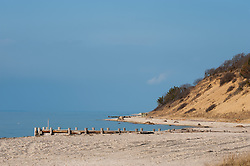 peaceful day at the beach in East Hampton, NY