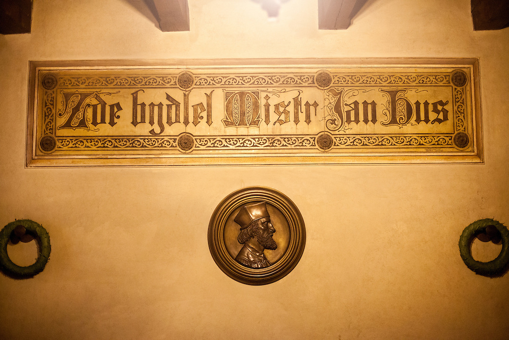 """Here was living Master (magistr) Jan Hus"", inscription in the former flat of Jan Hus located in the Bethlehem Chapel in Prague. The Bethlehem Chapel became very popular because of reformer Jan Hus (John Huss), who preached there from 1402 to 1412."