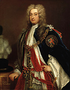 Charles Townshend, 2nd Viscount Townshend Bt, KG, PC (18 April 1674 – 21 June 1738) British Whig statesman. He served for a decade as Secretary of State, directing British foreign policy. He was often known as Turnip Townshend because of his strong interest in farming. Unknown after Sir Godfrey Kneller (1646-1723)