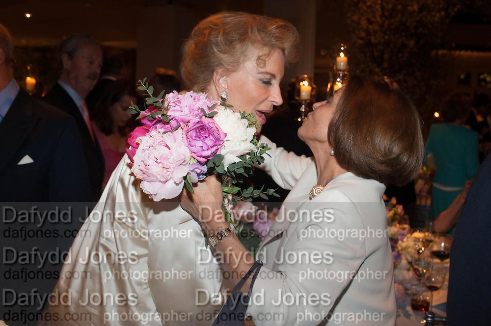PRINCESS MICHAEL OF KENT; SARITA GAINZA The Cartier Chelsea Flower show dinner. Hurlingham club, London. 20 May 2013.