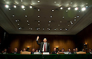 Apr 27,2010 - Washington, District of Columbia USA - .Goldman Sachs CEO Lloyd Blankfein is sworn in at Tuesday's hearing before the Senate Homeland Security and Governmental Affairs subcommittee Hearing on Wall Street and the Financial Crisis. (Credit Image: © Pete Marovich Images)
