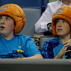 Oct 10, 2009; New Orleans, LA, USA;  New Orleans Hornets fans watch from the stands during a preseason game at the New Orleans Arena. The Hornets defeated the Thunder 88-79. Mandatory Credit: Derick E. Hingle-US PRESSWIRE