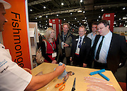 .Dr. Stephen Farry Employment and Learning Minister for Northern Ireland visits the ExCel Centre  in London on October 8th 2011.