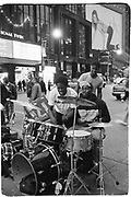Musicians in times Sq. New York. 1994. © Copyright Photograph by Dafydd Jones 66 Stockwell Park Rd. London SW9 0DA Tel 020 7733 0108 www.dafjones.com