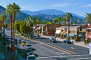 Palm Desert CA, El Paseo Drive, Shopping, shops, clothing, boutiques, art galleries, jewelers, restaurants, picture-postcard