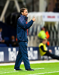 England U21 Manager, Gareth Southgate gives a thumbs up to his players  - Mandatory byline: Matt McNulty/JMP - 07966386802 - 03/09/2015 - FOOTBALL - Deepdale Stadium -Preston,England - England U21 v USA U23 - U21 International
