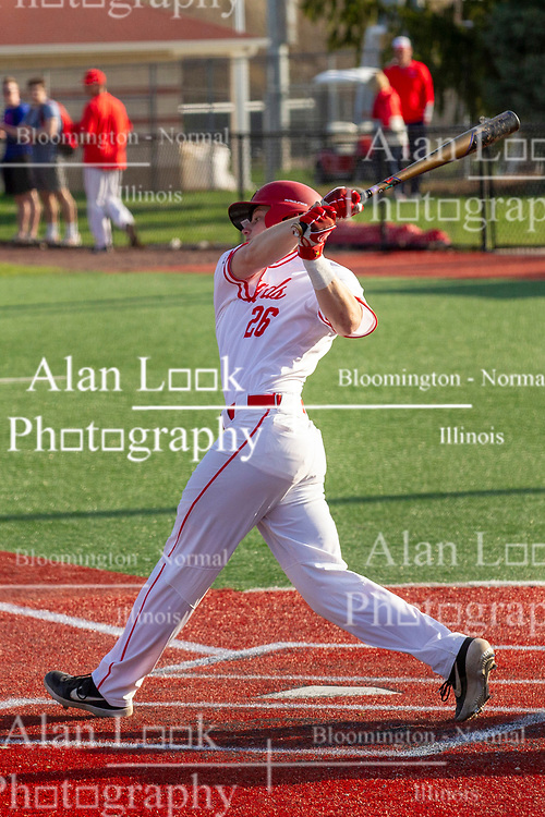 NORMAL, IL - April 08: Tyson Hays during a college baseball game between the ISU Redbirds  and the Sacramento State Hornets on April 08 2019 at Duffy Bass Field in Normal, IL. (Photo by Alan Look)