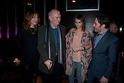 ELIZABETH BERRINGTON; ; ALAN AYCKBOURN; KARA TOINTON; REECE SHEARSMITH , Absent Friends - press night  afterparty. Mint Leaf. Haymarket. London. Thursday 9 February 2012