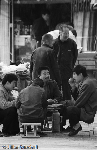 On the streets of Yan'an, China back in 2001.<br /> <br /> Images in this gallery were taken using film and are presented in small, low resolution files - high resolution scans or the original slide/negative are also available.