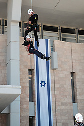 June 13, 2017 - Jerusalem, Israel - The IDF, Home Front Command, local authorities, police, firefighters and Israel's Magen David Adom Emergency Medical Services take part in a nationwide drill to improve abilities and response to an earthquake in Israel. (Credit Image: © Nir Alon via ZUMA Wire)