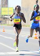 Gladys Chesir (KEN) places fifth in 1:07:51 in the Prague Half Marathon in Prague, Czech Republic on Saturday, April 17, 2017. (Jiro Mochizuki/IOS)