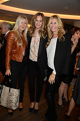 Left to right, AMANDA WAKELEY, TRINNY WOODALL and MELISSA ODABASH at a reception to launch the range of Dr Lancer beauty products held at The Penthouse, Harrods, Knightsbridge, London on 16th September 2013.