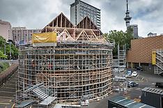 Auckland - Pop-Up Globe Theatre Construction