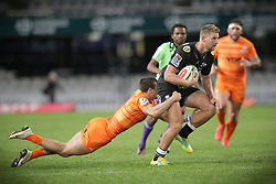14072018 (Durban) Tyler Paul sharks player with a ball during a match of Sharks vs Jaguares at the Vodacom Super Rugby at Kings Park stadium, Durban.<br /> Picture: Motshwari Mofokeng/African News Agency/ANA