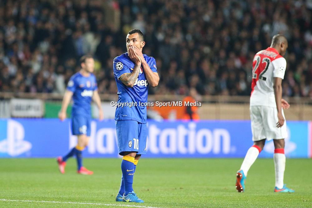 Carlos TEVEZ  - 22.04.2015 - Monaco / Juventus Turin - 1/4Finale retour Champions League<br />Photo : Serge Haouzi / Icon Sport