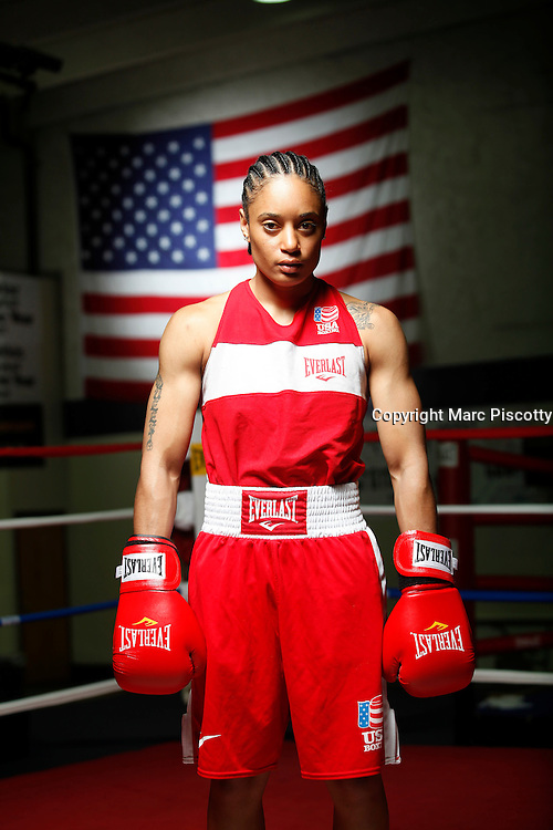 6/24/11 2:50:05 PM -- Colorado Springs, CO. -- A portrait of U.S. Olympic lightweight boxer Queen Underwood, 27, of Seattle, Wash. who will be competing for her fifth title. She began boxing in 2003 and was the 2009 Continental Champion and the 2010 USA Boxing National Champion. She is considered a likely favorite to medal at the 2012 Summer Olympics in London as women's boxing makes its debut as an Olympic sport. -- ...Photo by Marc Piscotty, Freelance.