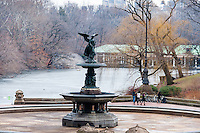 US, New York City. Bethesda Terrace in Central Park with the Bethesda Fountain.