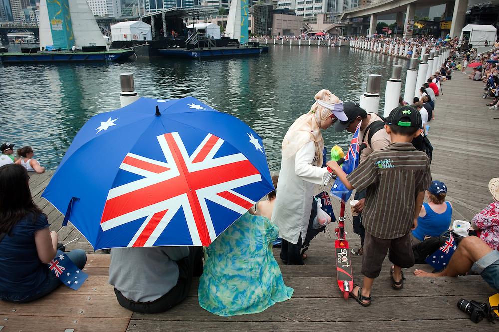 Australia Day 2011 in Darling Harbor, Sydney, Australia.