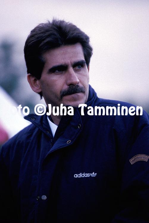 05.09.1993.Coach Carlos Queiroz - Portugal.©Juha Tamminen