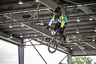 #3 (DE SOUZA FILHO Anderson Ezequiel) BRA at Round 6 of the 2019 UCI BMX Supercross World Cup in Saint-Quentin-En-Yvelines, France