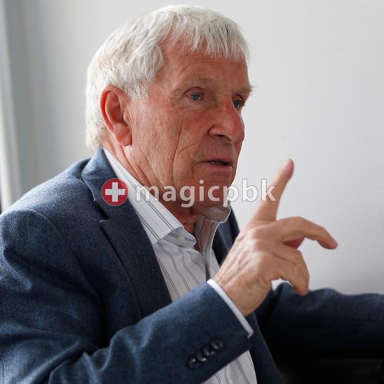 Soccer expert Erich VOGEL of Switzerland is pictured during an interview held at the Gran Cafe Motta on Limmatquai in Zurich, Switzerland, Wednesday, Sept. 28, 2011. (Photo by Patrick B. Kraemer / MAGICPBK)