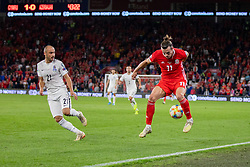 CARDIFF, WALES - Friday, September 6, 2019: Wales' captain Gareth Bale ahead of the UEFA Euro 2020 Qualifying Group E match between Wales and Azerbaijan at the Cardiff City Stadium. (Pic by Mark Hawkins/Propaganda)