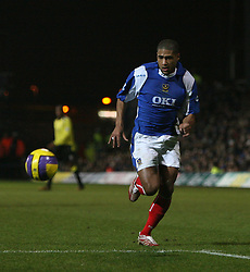 Portsmouth, England - Saturday, February 10, 2007: Portsmouth's Glen Johnson against Manchester City during the Premiership match at Fratton Park. (Pic by Chris Ratcliffe/Propaganda)