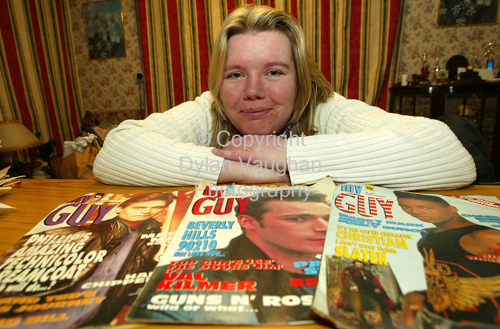 20/1/2004.June Grant pictured at home in Mooncoin county Kilkenny with copies of My Guy..Picture Dylan Vaughan.