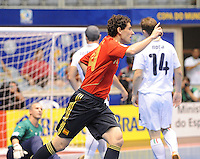 Fussball  International  FIFA  FUTSAL WM 2008   16.10.2008 Halbfinale Spain - Italy Spanien - Italien TORRAS (ESP) jubelt nach seinem 1:0
