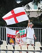 England fans. New Zealand Blackcaps v England. One Day International Cricket. Seddon Park, Hamilton, New Zealand on Sunday 25 February 2018.<br /> <br /> Copyright photo: &copy; Bruce Lim / www.photosport.nz