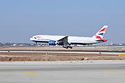 Israel, Ben-Gurion international Airport British Airways commercial jet landing