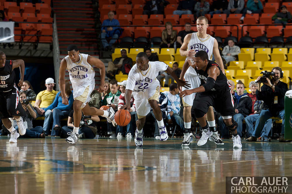 November 27, 2008: Western Carolina's Harouna Mutombo (22) starts a fast break in the final game in the opening round of the 2008 Great Alaska Shootout at the Sullivan Arena