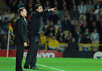 Photo: Richard Lane.<br />Watford v Fulham. The Barclays Premiership. 02/10/2006. <br />Fulham manager, Chris Coleman shouts out the orders to his team.