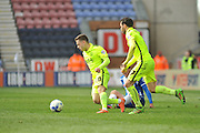 Southend United midfielder, Jack Payne (10) wins the ball  during the Sky Bet League 1 match between Wigan Athletic and Southend United at the DW Stadium, Wigan, England on 23 April 2016. Photo by John Marfleet.