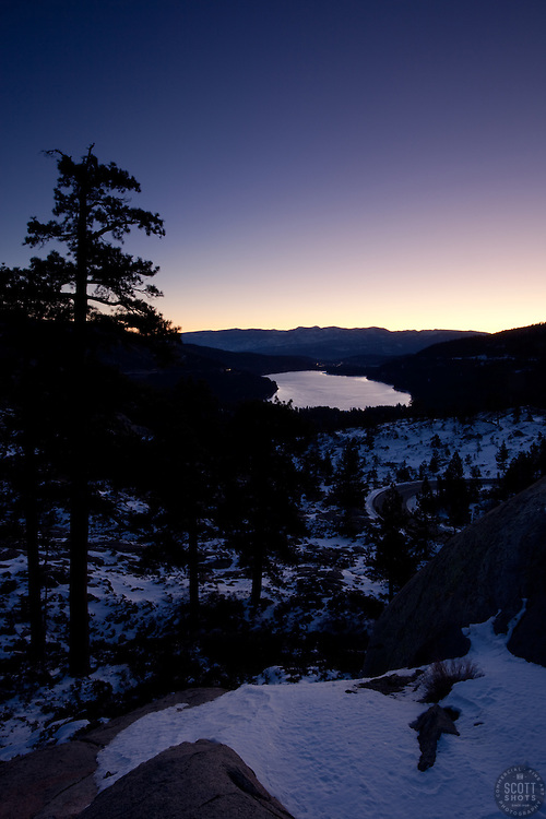 """Donner Lake Sunrise 6"" - This sunrise was photographed at Donner Lake in Truckee California."