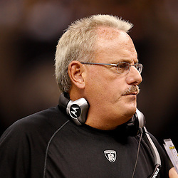 August 27, 2010; New Orleans, LA, USA; New Orleans Saints assistant head coach and linebackers coach on the sideline during the second half of a preseason game at the Louisiana Superdome. The New Orleans Saints defeated the San Diego Chargers 36-21. Mandatory Credit: Derick E. Hingle
