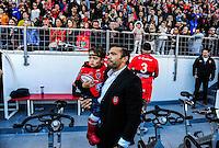 Bryan HABANA et le fils de Frederic MICHALAK - 05.04.2015 - Toulon / Londres Wasps - 1/4Finale European Champions Cup<br />Photo : Dave Winter / Icon Sport