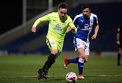 Paul Taylor of Peterborough United in action with Kristian Dennis of Chesterfield - Mandatory by-line: Joe Dent/JMP - 14/03/2017 - FOOTBALL - The Proact Stadium - Chesterfield, England - Chesterfield v Peterborough United - Sky Bet League One